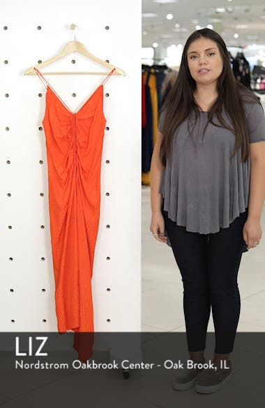 Star Jacquard Ruched Slipdress, sales video thumbnail