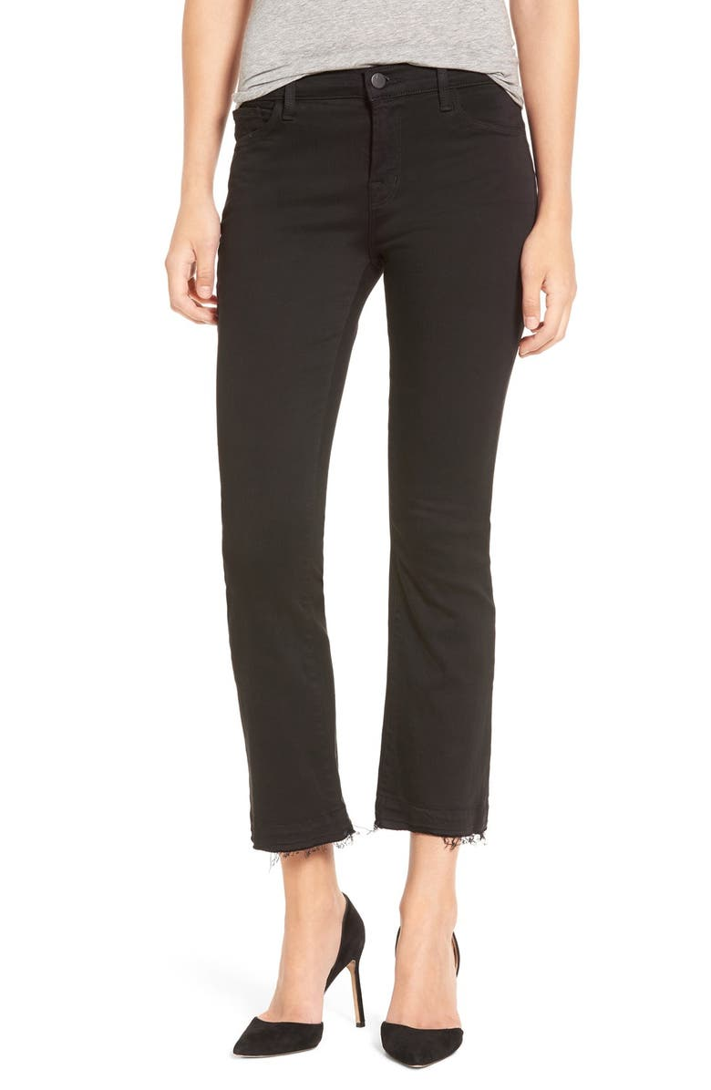 J BRAND 'Selena' Frayed Crop Jeans, Main, color, 003