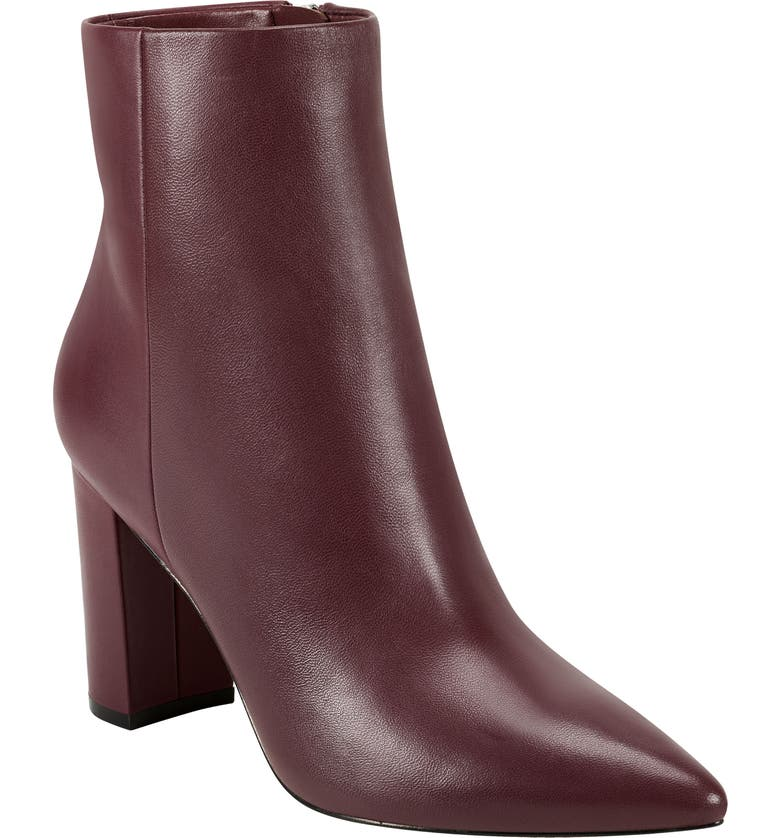 MARC FISHER LTD Ulani Pointy Toe Bootie, Main, color, MERLOT LEATHER