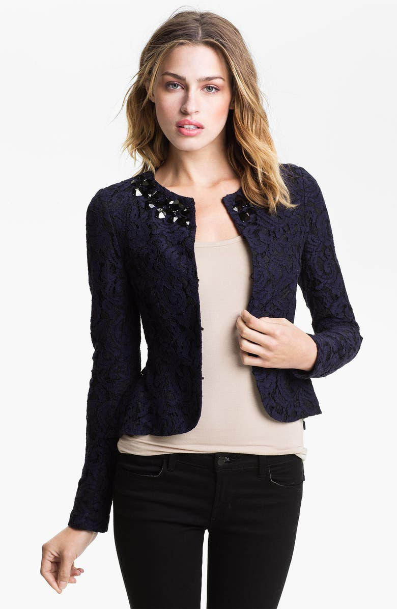 HEED Lace Necklace Jacket, Main, color, 410