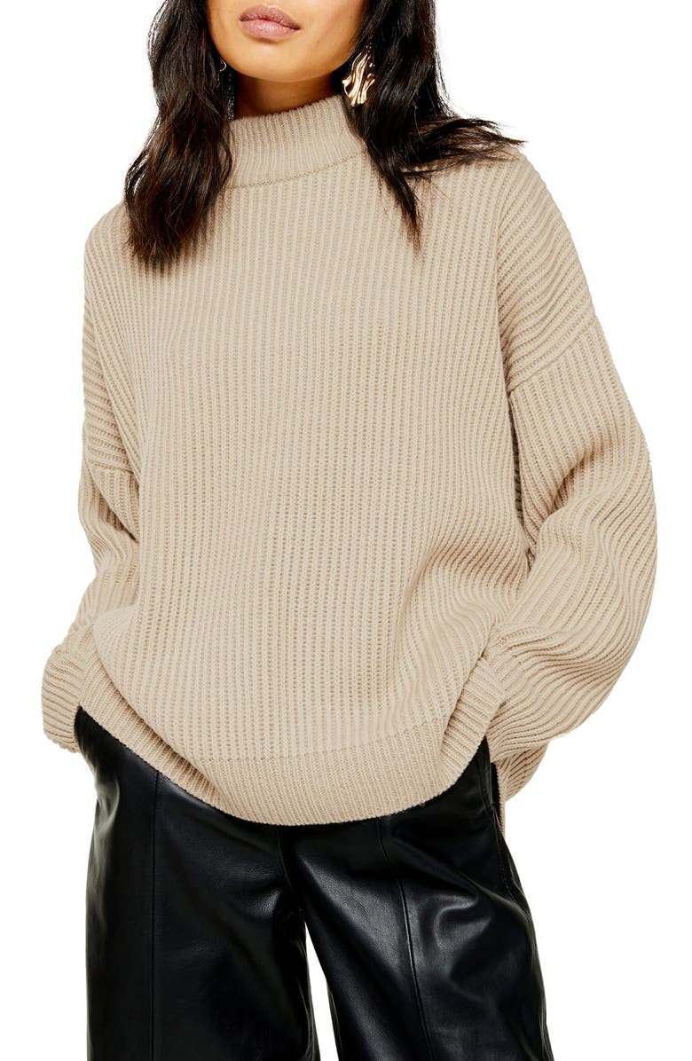 TOPSHOP Mock Neck Sweater, Main, color, 251