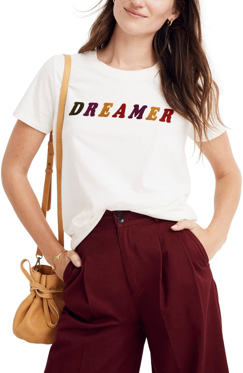 MADEWELL Dreamer Graphic Tee, Main, color, PEARL IVORY DREAMER