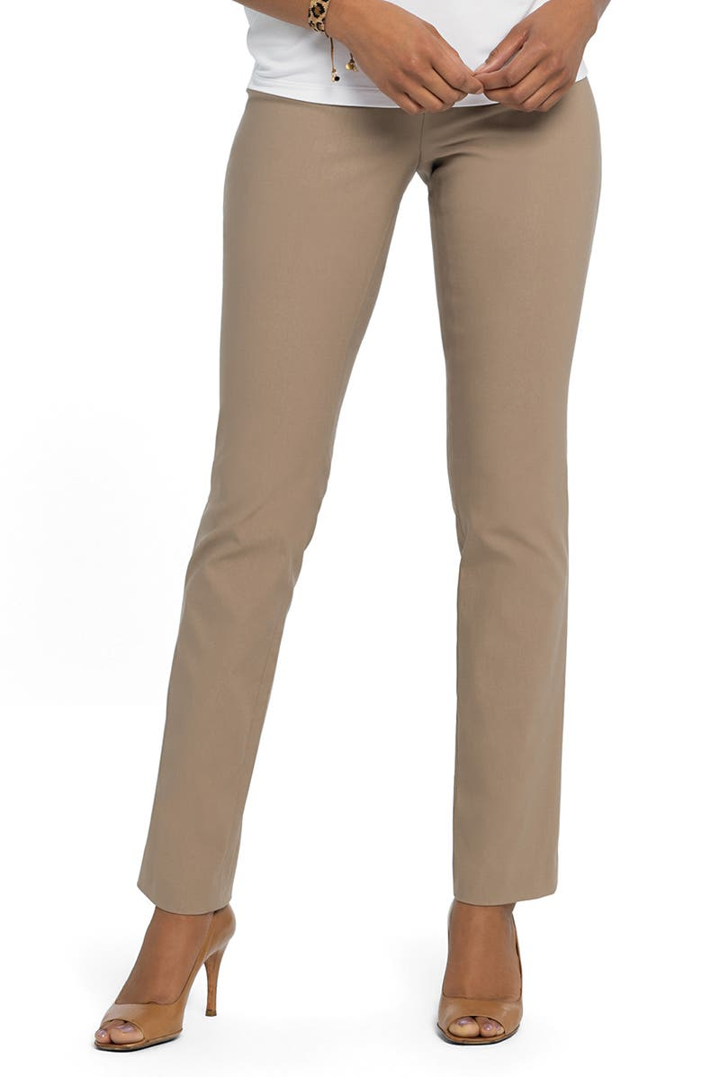 NIC+ZOE Wonderstretch Straight Leg Pants, Main, color, BEACHWOOD