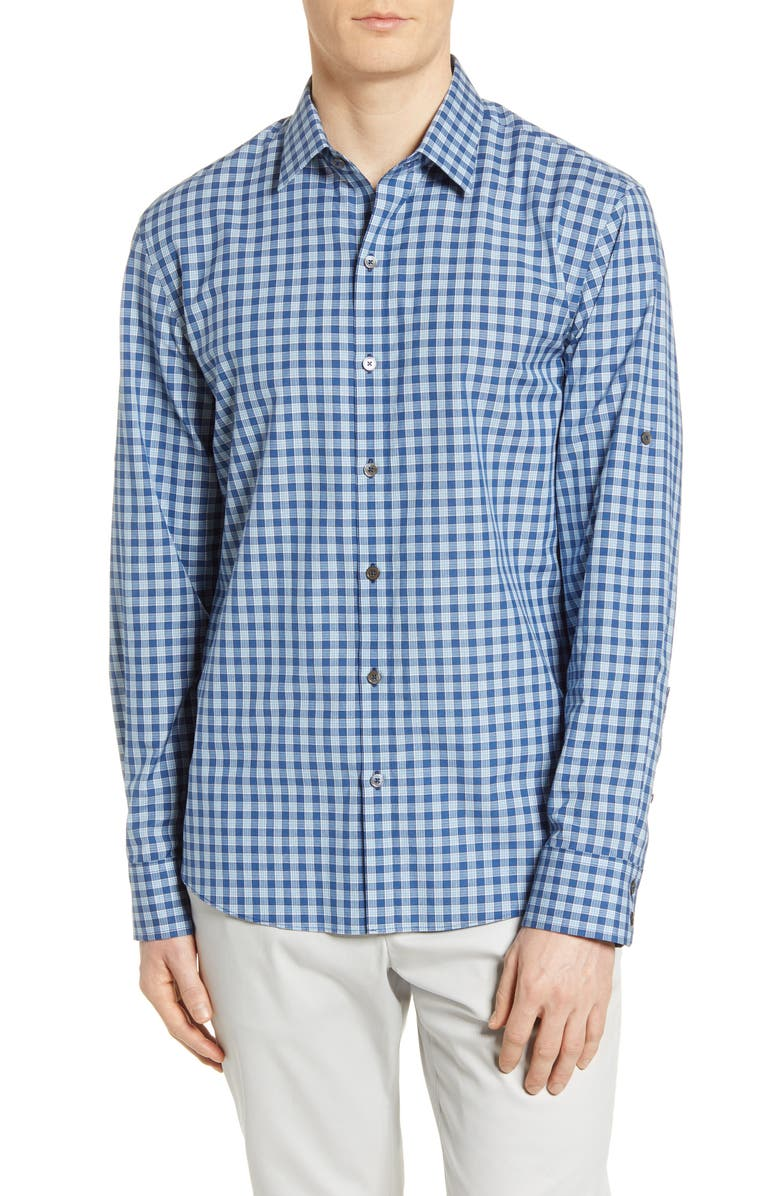 ZACHARY PRELL Plaid Button-Up Shirt, Main, color, 336