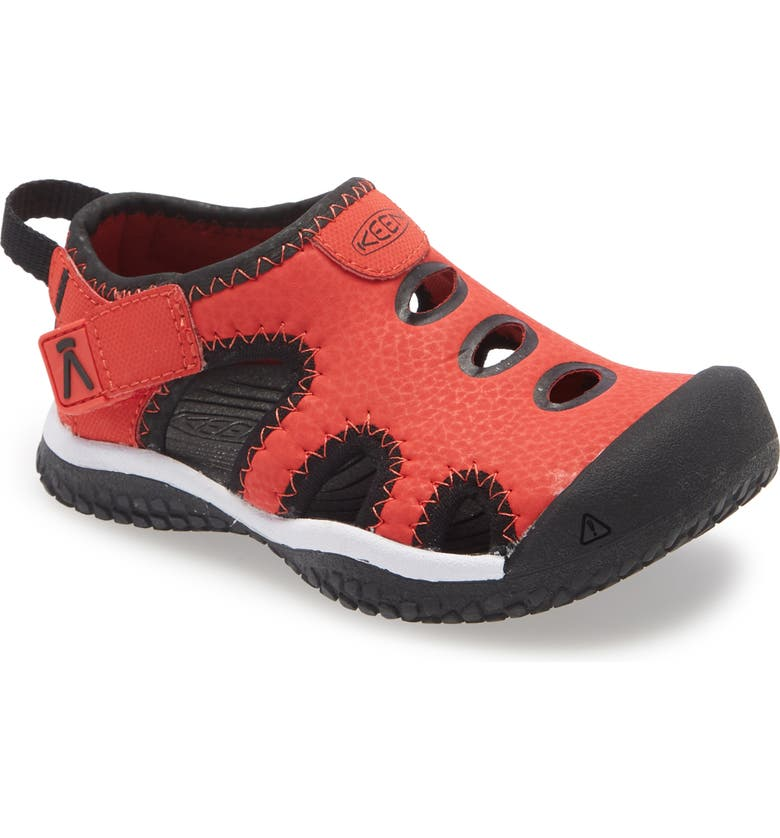 KEEN Stingray Sandal, Main, color, BLACK/ FIERY RED