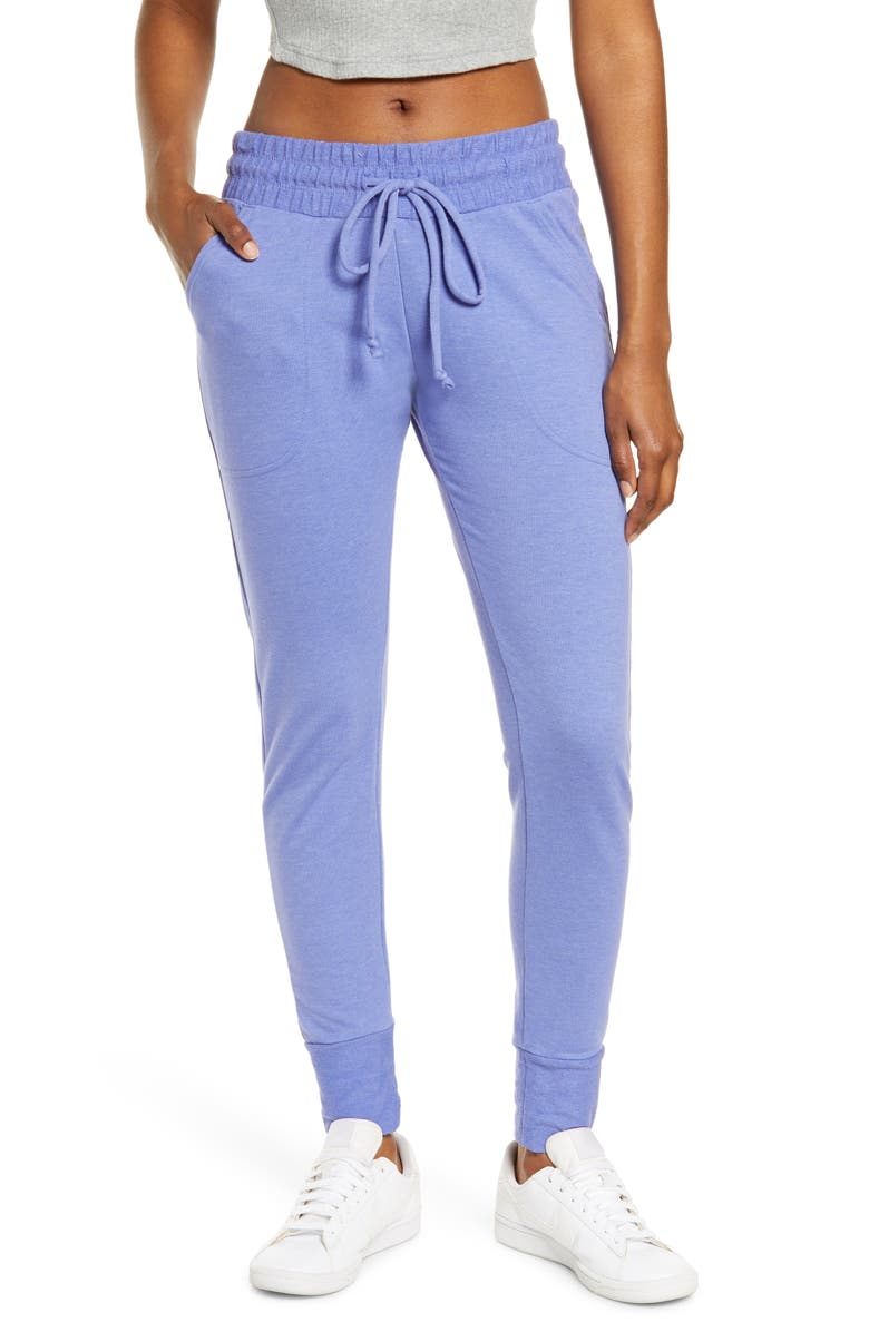 FREE PEOPLE FP MOVEMENT Sunny Skinny Sweatpants, Main, color, AFRICAN VIOLET