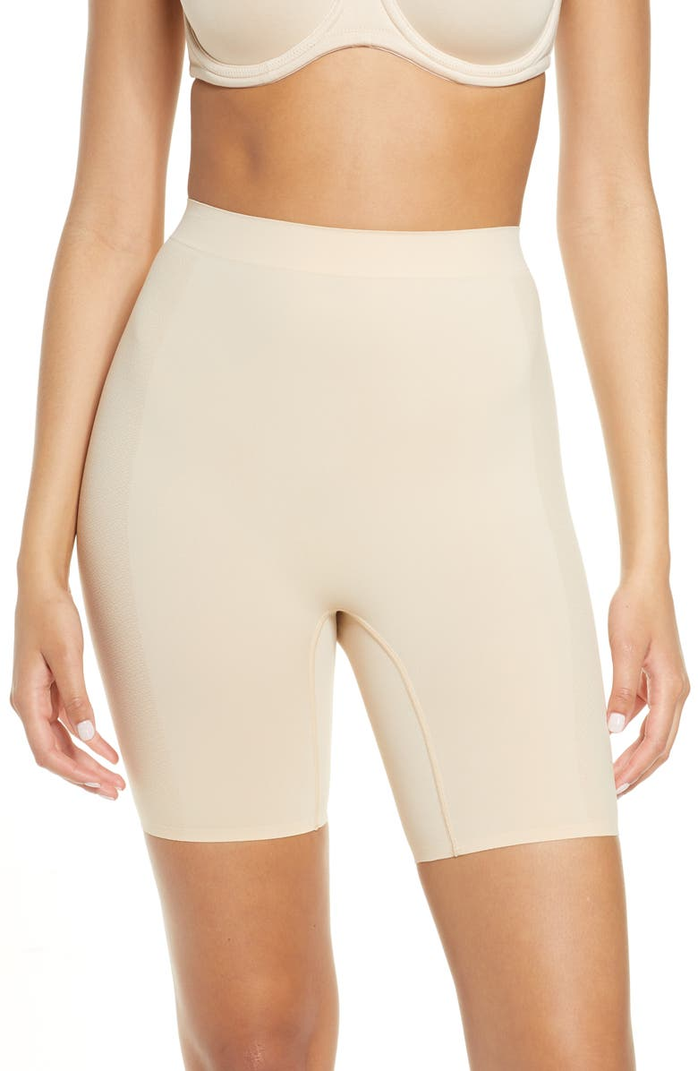 WACOAL Keep Your Cool Thigh Shaper Shorts, Main, color, SAND