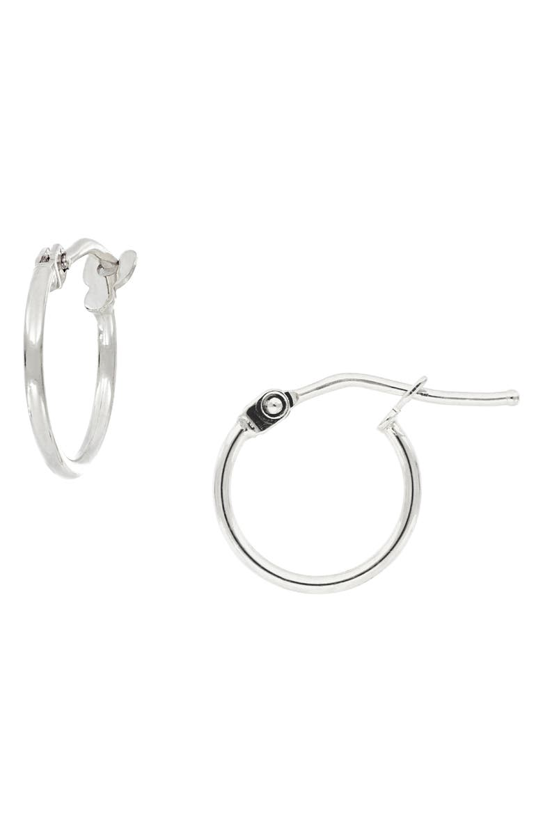 BONY LEVY 14K Gold Mini Hoop Earrings, Main, color, WHITE GOLD