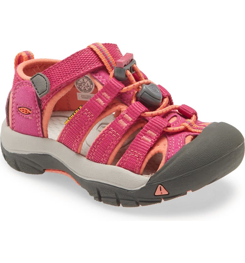 KEEN Newport H2 Water Friendly Sandal, Main, color, BERRY/ FUSION CORAL