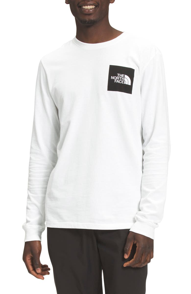 THE NORTH FACE Fine Logo Long Sleeve Graphic Tee, Main, color, TNF WHITE