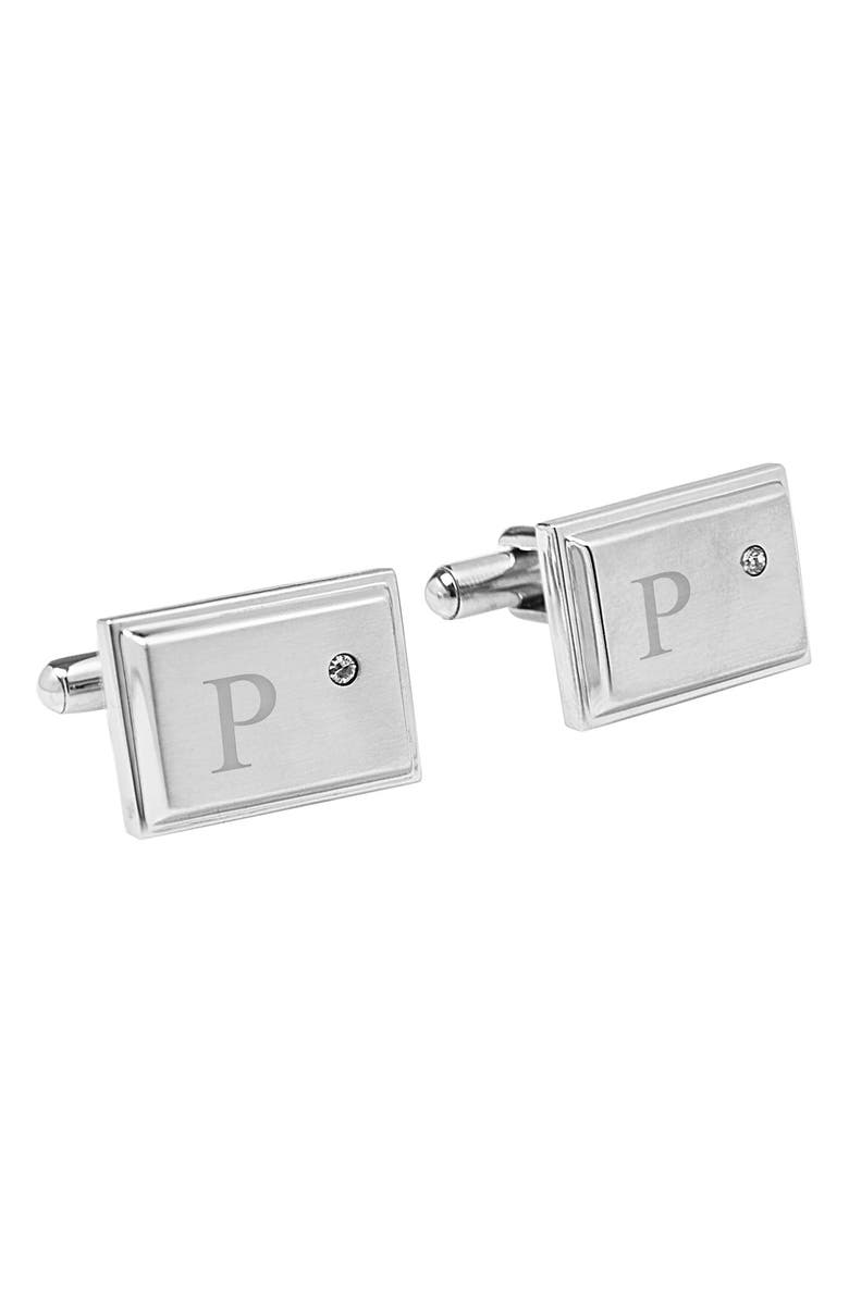 CATHY'S CONCEPTS Monogram Cuff Links, Main, color, 066