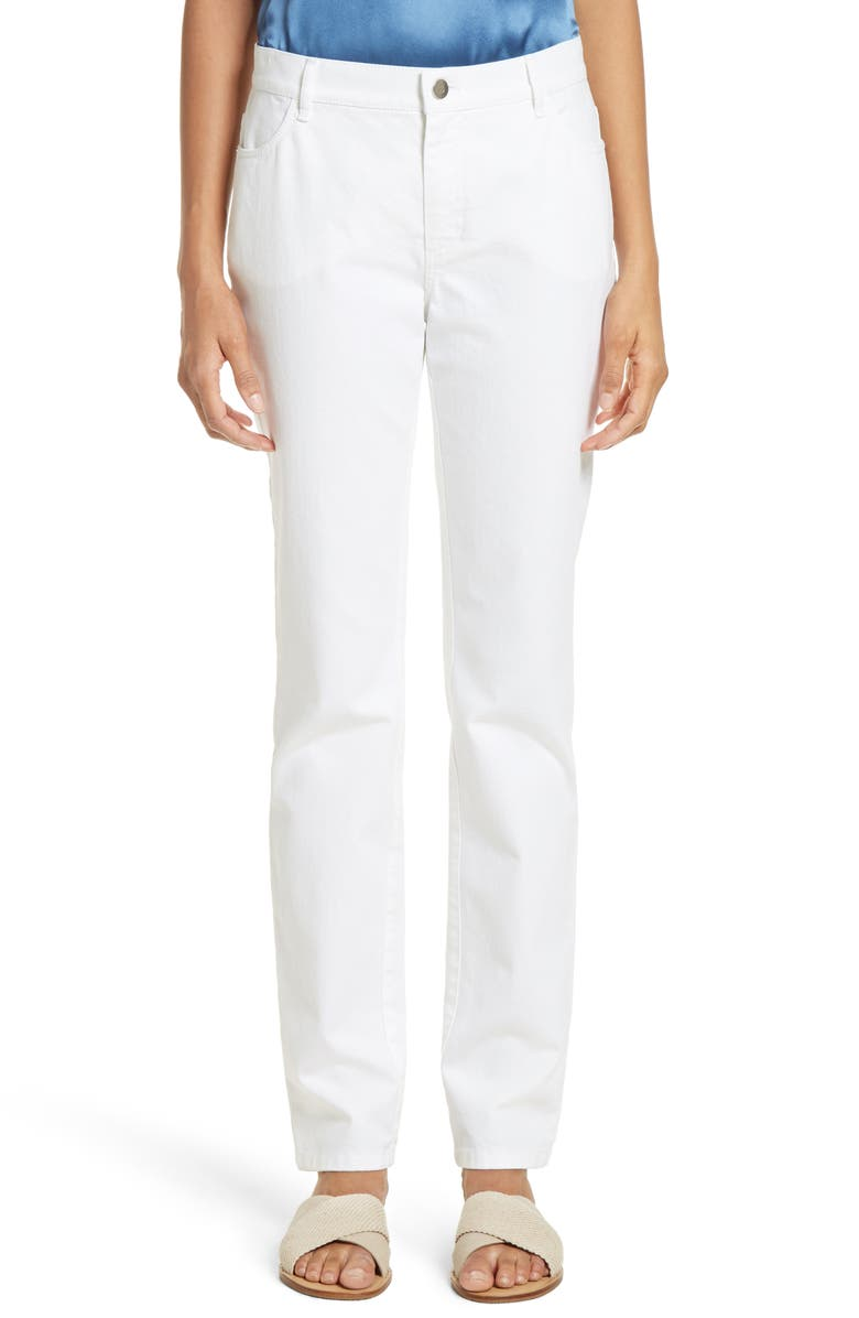 LAFAYETTE 148 NEW YORK Curvy Fit Jeans, Main, color, WHITE