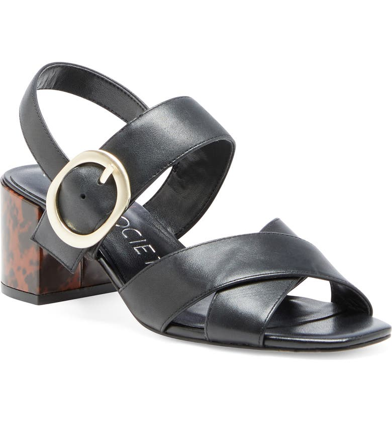 SOLE SOCIETY Shyna Sandal, Main, color, BLACK LEATHER