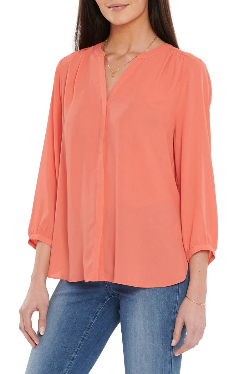 NYDJ Pintuck Blouse, Main, color, FRUIT PUNCH
