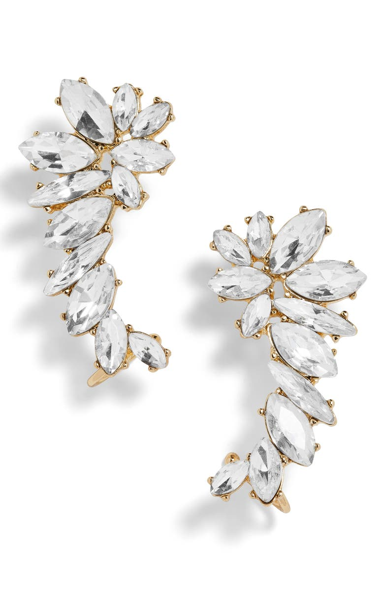 BAUBLEBAR Elidia Winged Crystal Ear Crawlers, Main, color, Gold