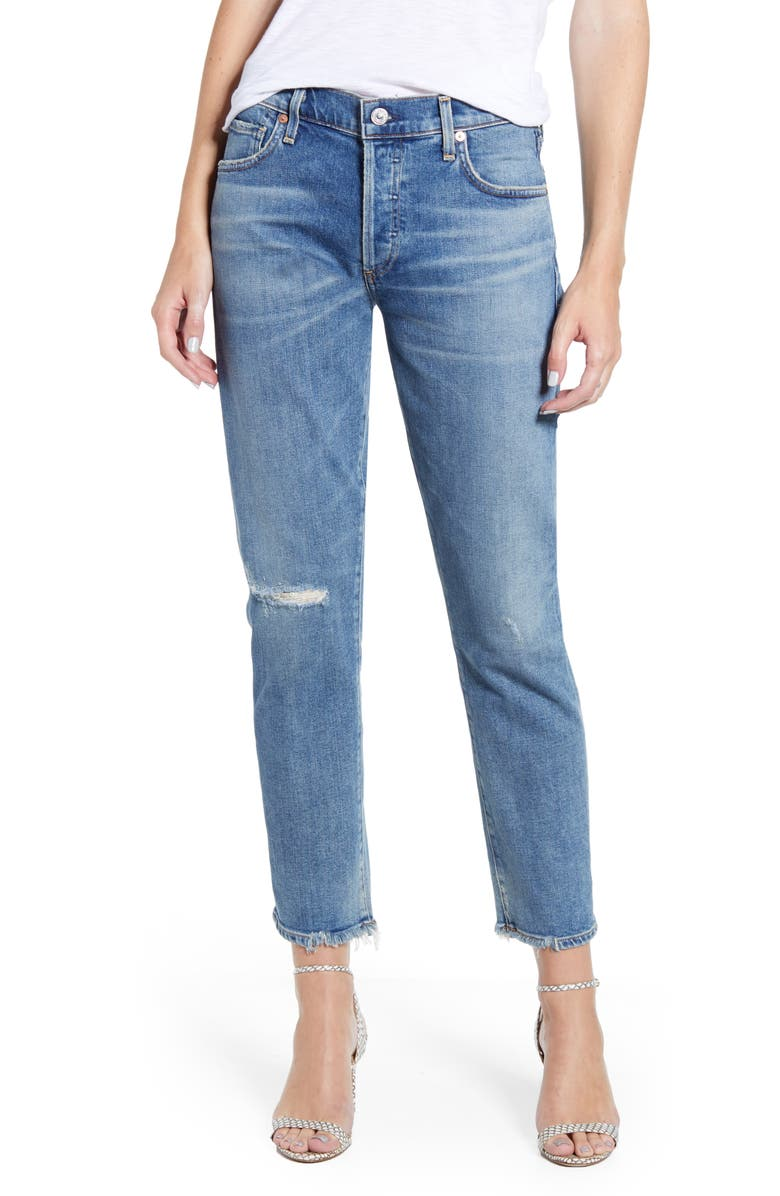 CITIZENS OF HUMANITY Emerson Ripped Slim Fit Boyfriend Jeans, Main, color, 423