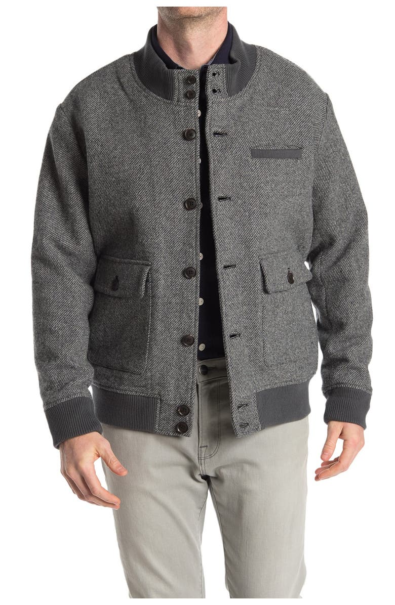 THE NORMAL BRAND Anthony Twill Wool Blend Jacket, Main, color, GREY