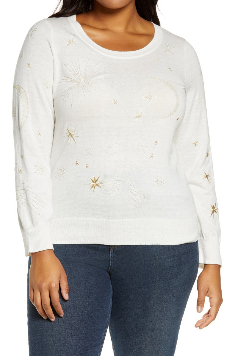 CHASER Astrology Sweater, Main, color, RICE