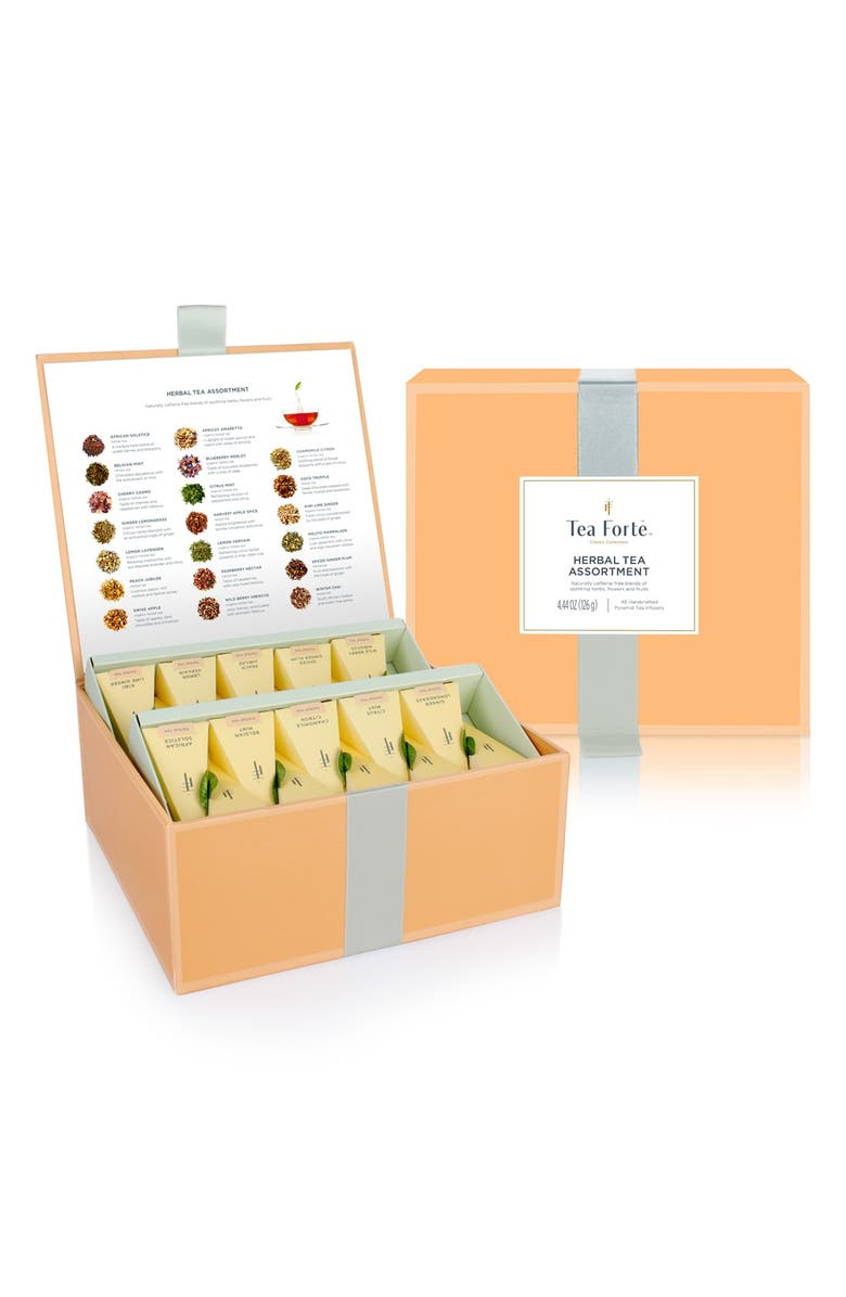 TEA FORTÉ 'Classic Collection' Assorted Herbal Tea Infuser Chest, Main, color, 800
