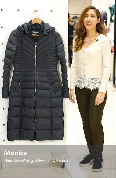 Hooded Long Quilted Coat, sales video thumbnail