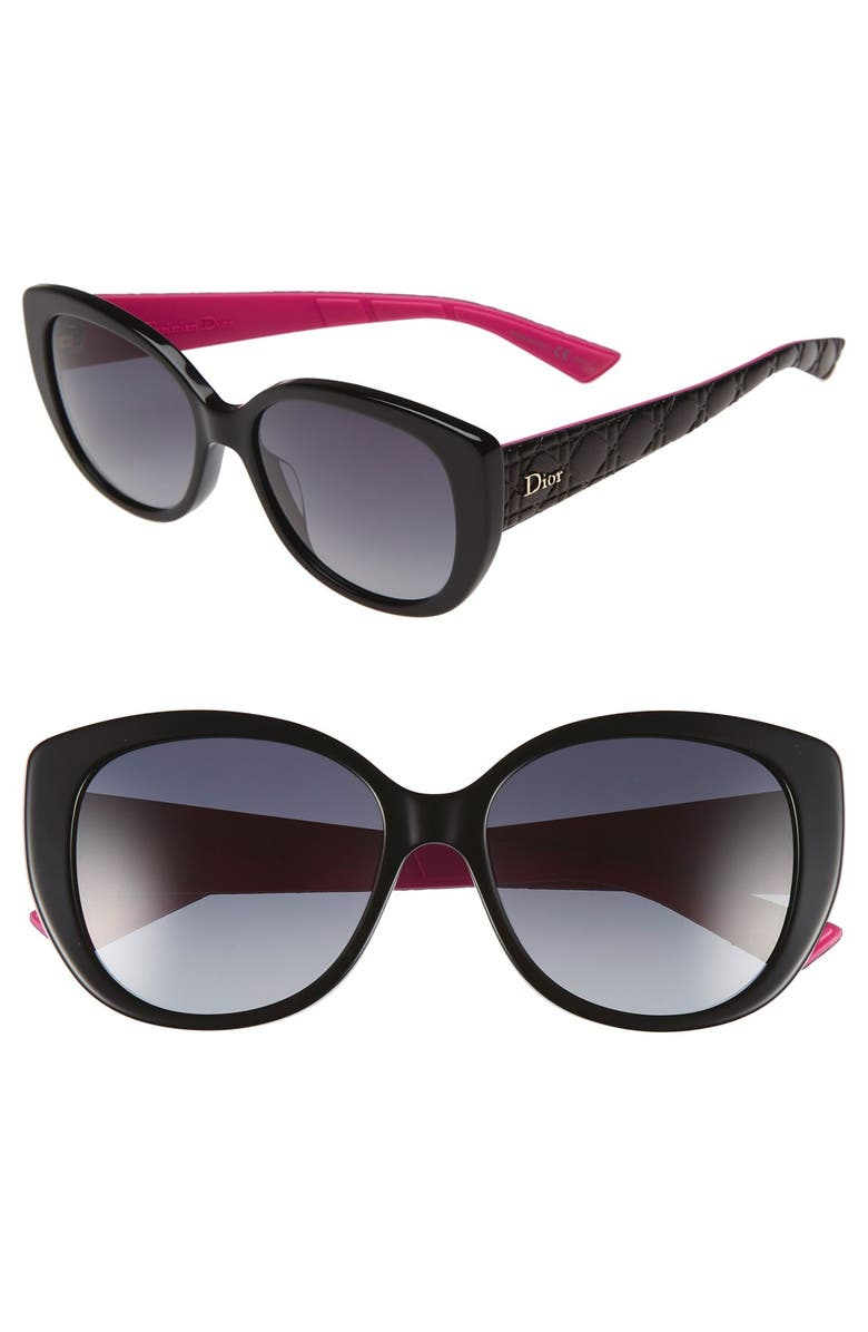 DIOR 'Lady' 55mm Oversized Cat Eye Sunglasses, Main, color, 001