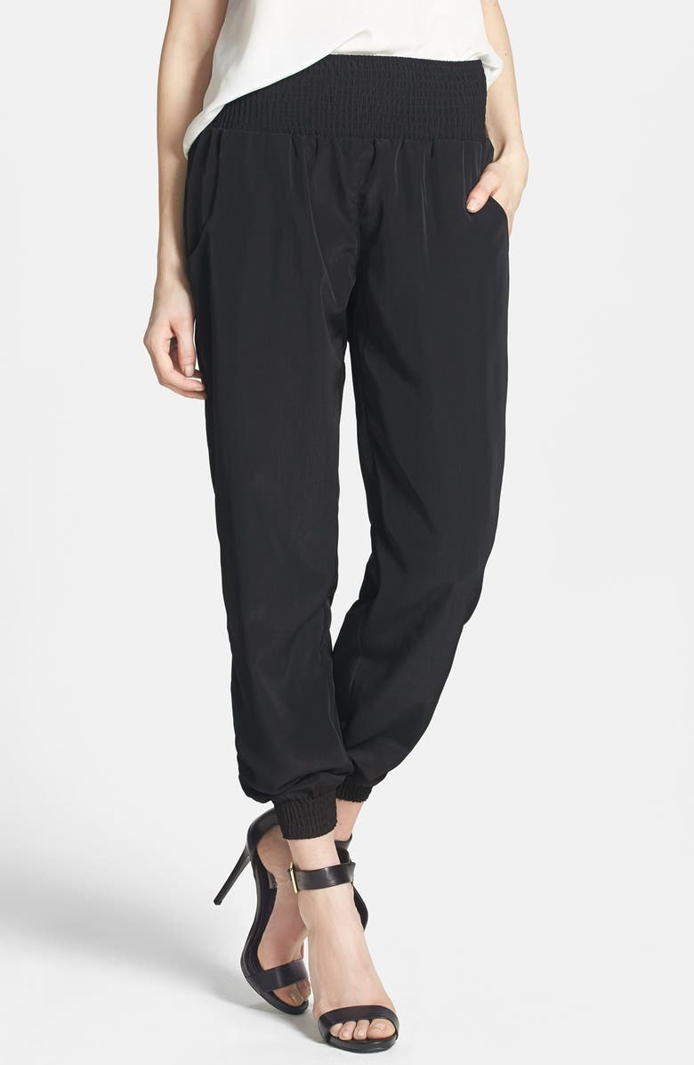 RD STYLE Ruched Waist Track Pants, Main, color, 001