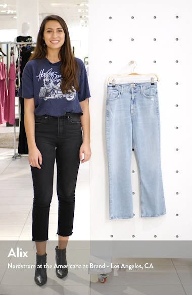 Demy Distressed Crop Flare Jeans, sales video thumbnail