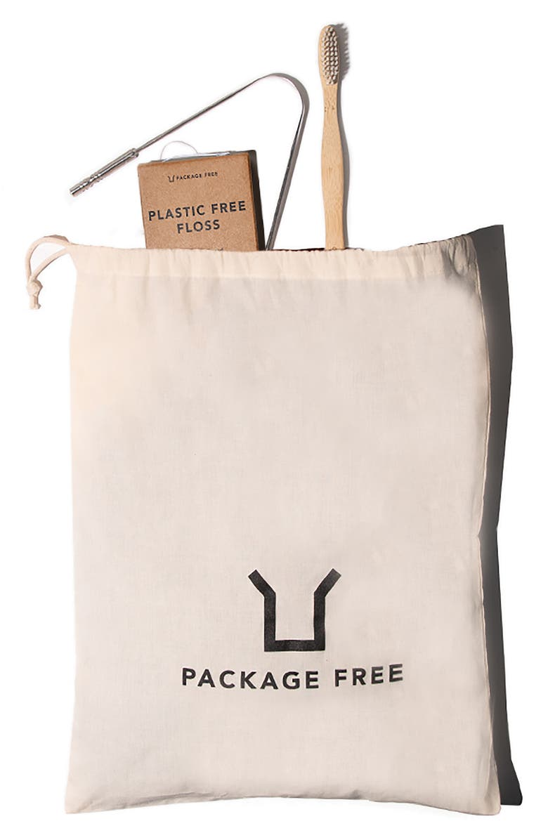 PACKAGE FREE Zero Waste Oral Hygiene Kit, Main, color, MULTI
