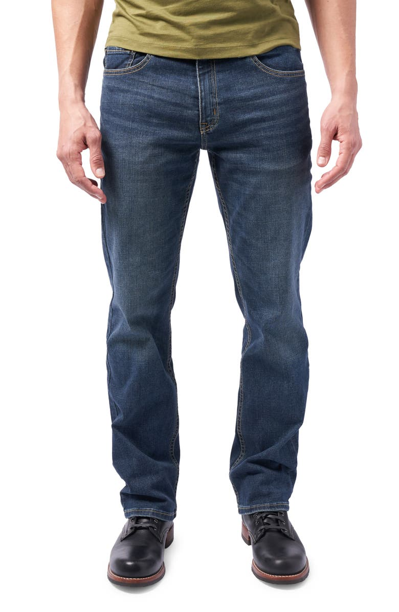 DEVIL-DOG DUNGAREES Boot Cut Performance Stretch Jeans, Main, color, BURKE