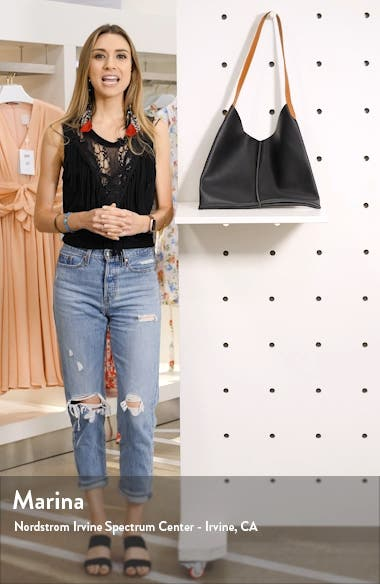 Center Seam Faux Leather Tote, sales video thumbnail