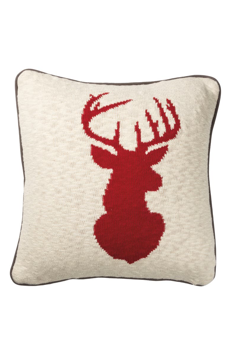 PRIMITIVES BY KATHY Stag Accent Pillow, Main, color, 600