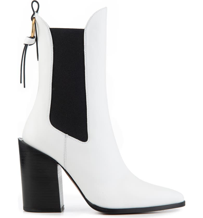 FRAME Le Manhattan Pointed Toe Chelsea Boot, Main, color, BLANC