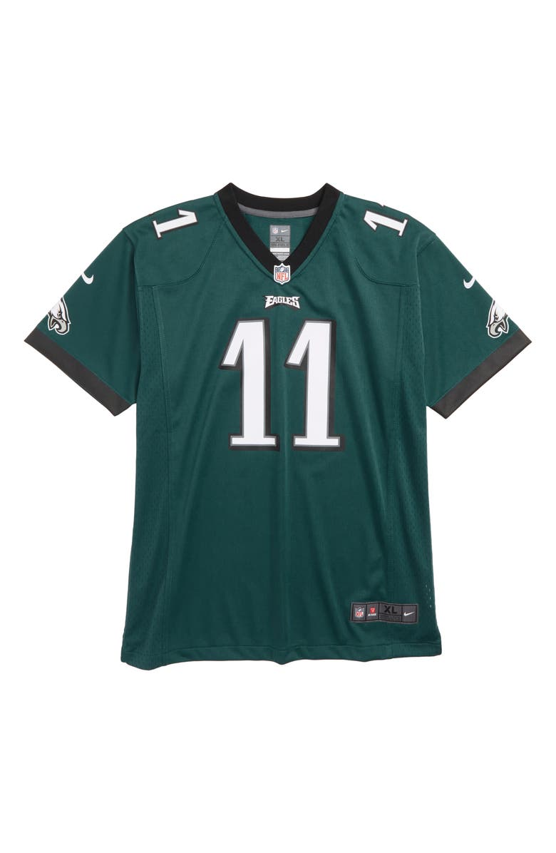 NIKE NFL Logo Philadelphia Eagles Carson Wentz Jersey, Main, color, 300