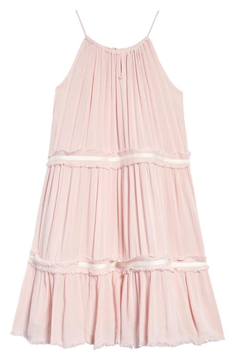 NORDSTROM Kids' Tiered Gauze Sundress, Main, color, PINK LOTUS