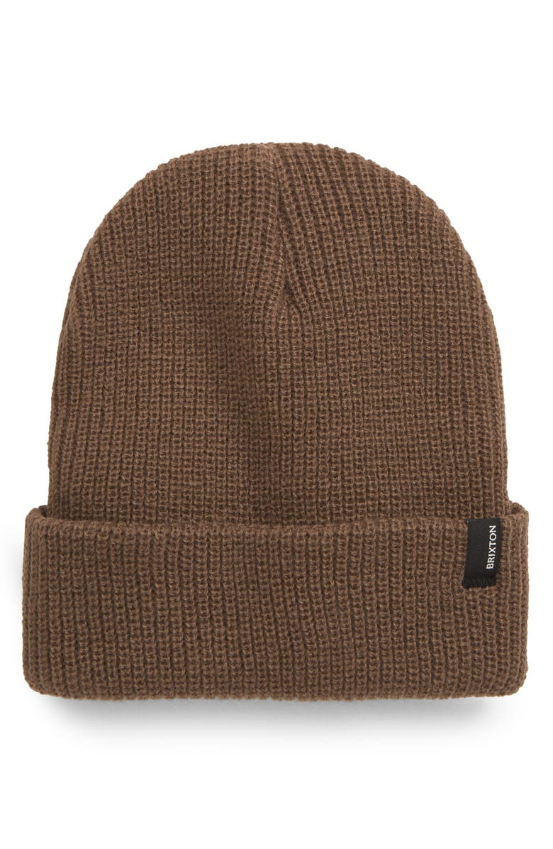 BRIXTON Heist Beanie, Main, color, COYOTE BROWN