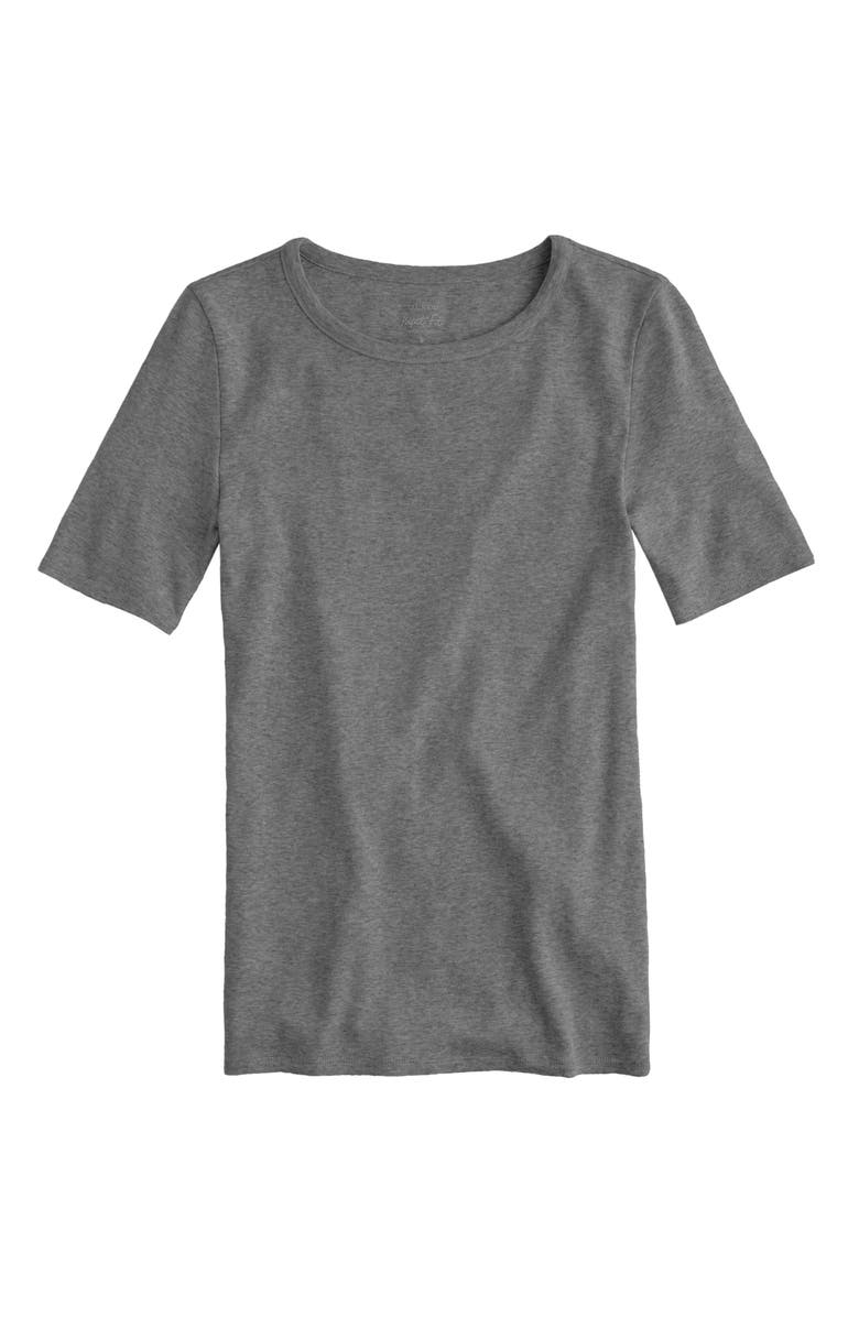 J.CREW New Perfect Fit Tee, Main, color, HEATHER CARBON