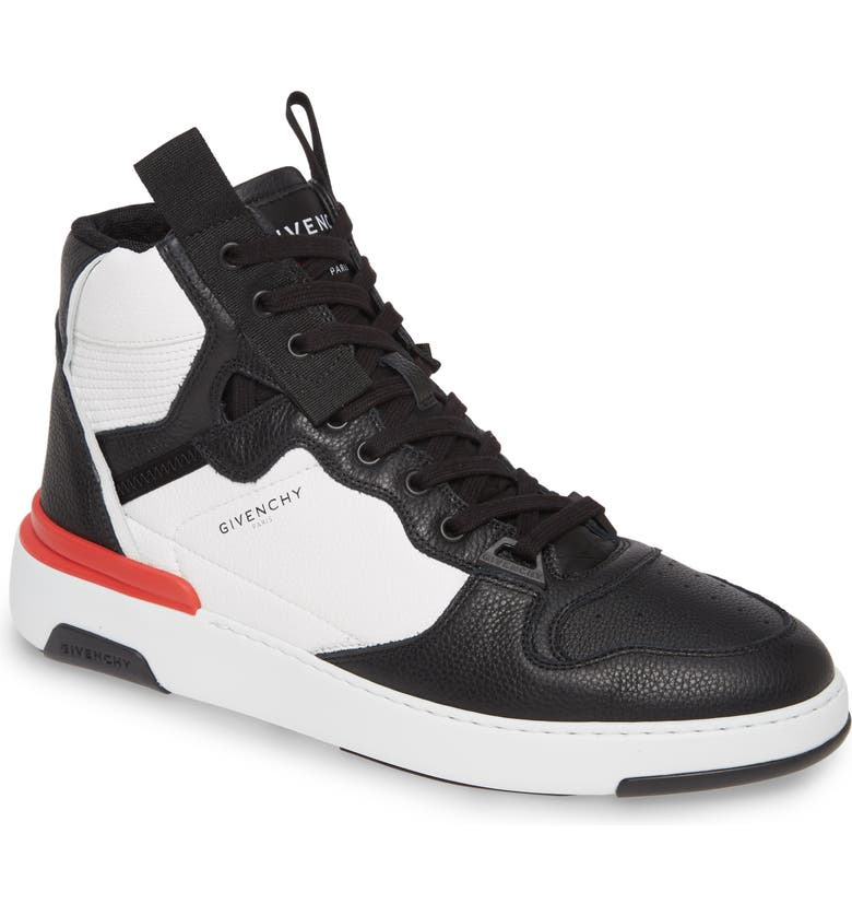 GIVENCHY High Top Sneaker, Main, color, BLACK/WHITE