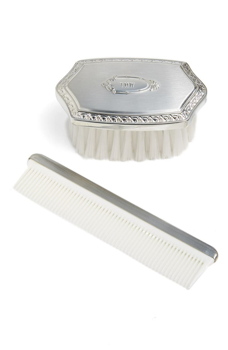 SALISBURY PEWTER Personalized Brush & Comb Set, Main, color, 040