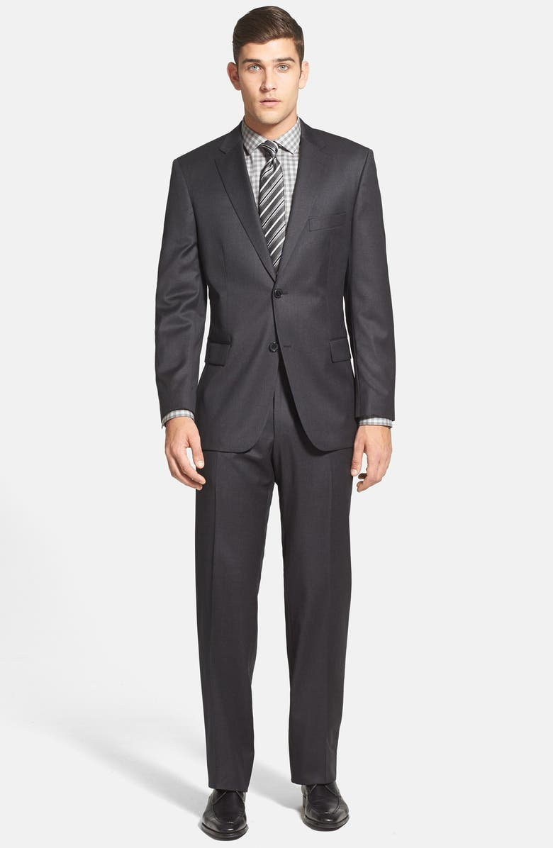 BOSS 'Pasolini/Movie' Classic Fit Charcoal Wool Suit, Main, color, CHARCOAL
