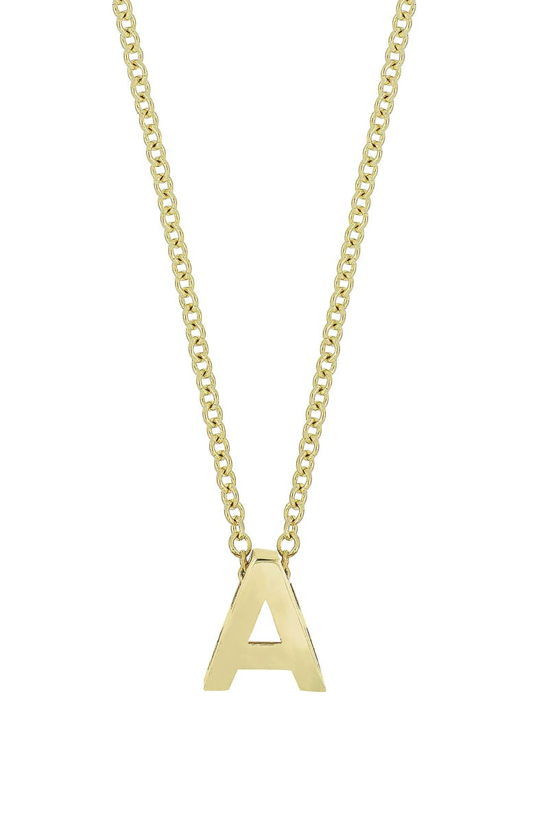BONY LEVY 14K Gold Initial Pendant Necklace, Main, color, YELLOW GOLD- A
