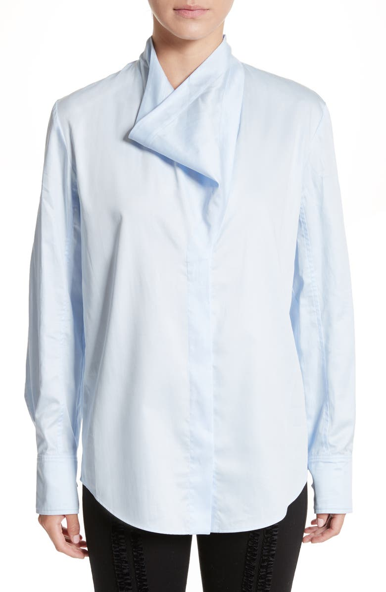 STELLA MCCARTNEY Damiane Cotton Poplin Shirt, Main, color, 100