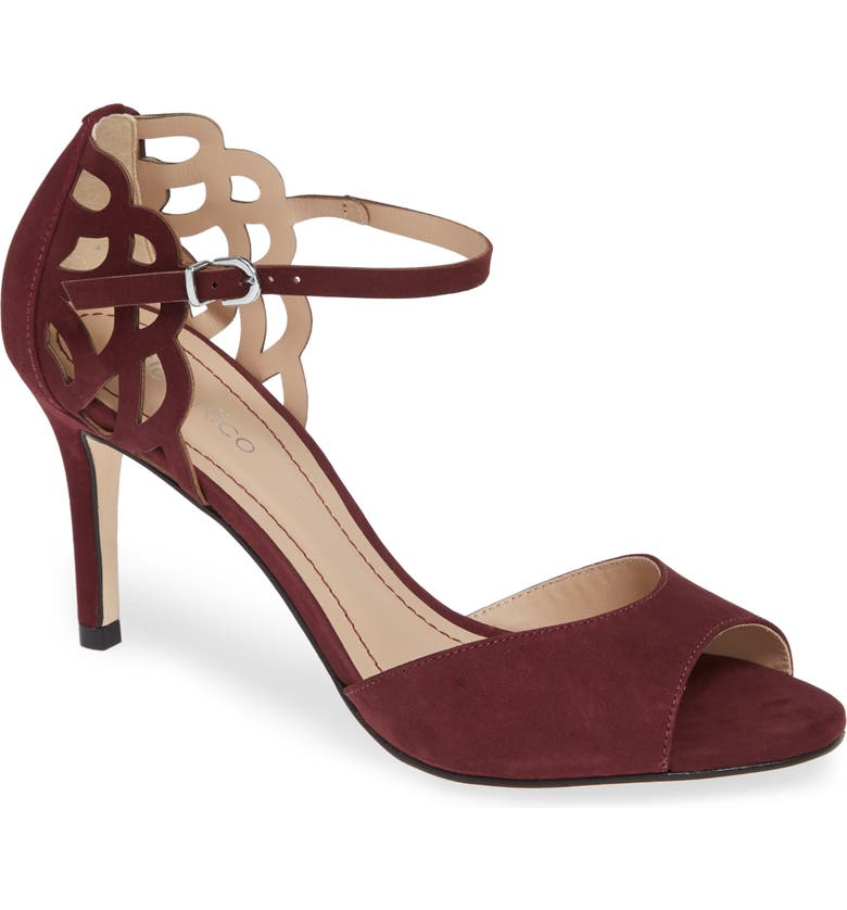 KLUB NICO Adalie Sandal, Main, color, WINE LEATHER