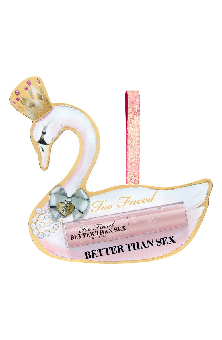 TOO FACED Travel Size Better Than Sex Mascara Ornament, Main, color, 000