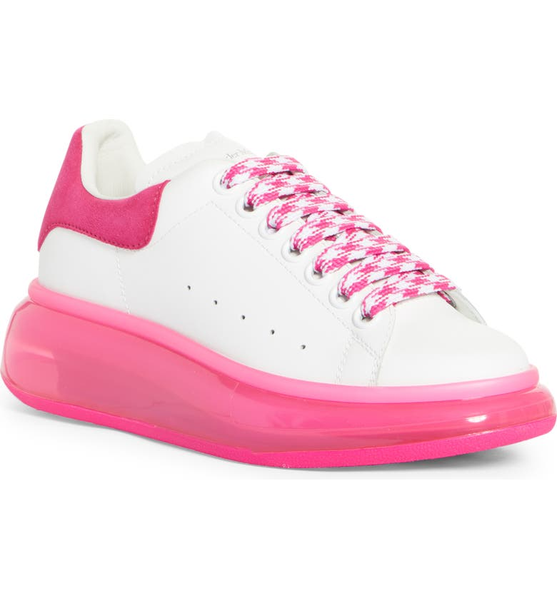 ALEXANDER MCQUEEN Bubble Sole Platform Sneaker, Main, color, WHITE/ SHOCK PINK