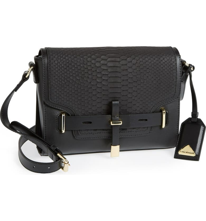 VINCE CAMUTO 'Max' Leather Crossbody Bag, Main, color, 002