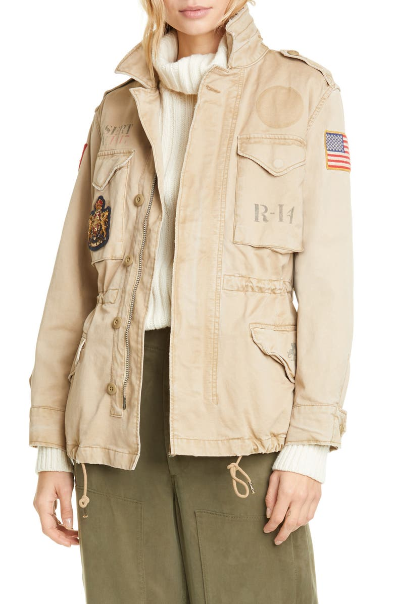 POLO RALPH LAUREN Military Patch Jacket, Main, color, 200
