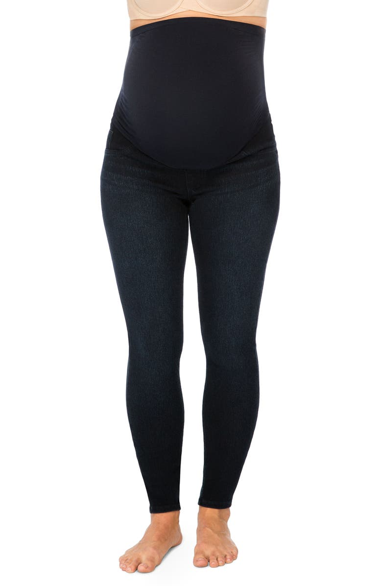 SPANX<SUP>®</SUP> Mama Ankle Jean-ish Seamless Maternity Leggings, Main, color, TWILIGHT RINSE