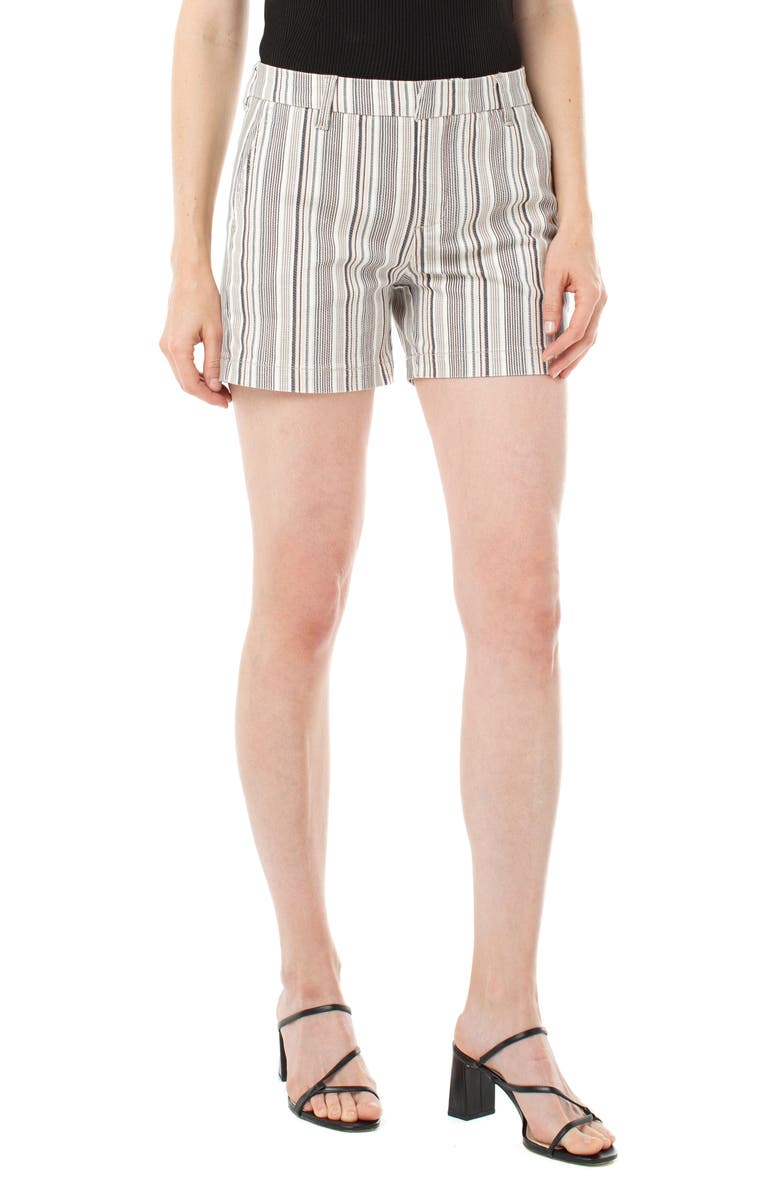 LIVERPOOL Trouser Shorts, Main, color, DUSTY CURL MULTI