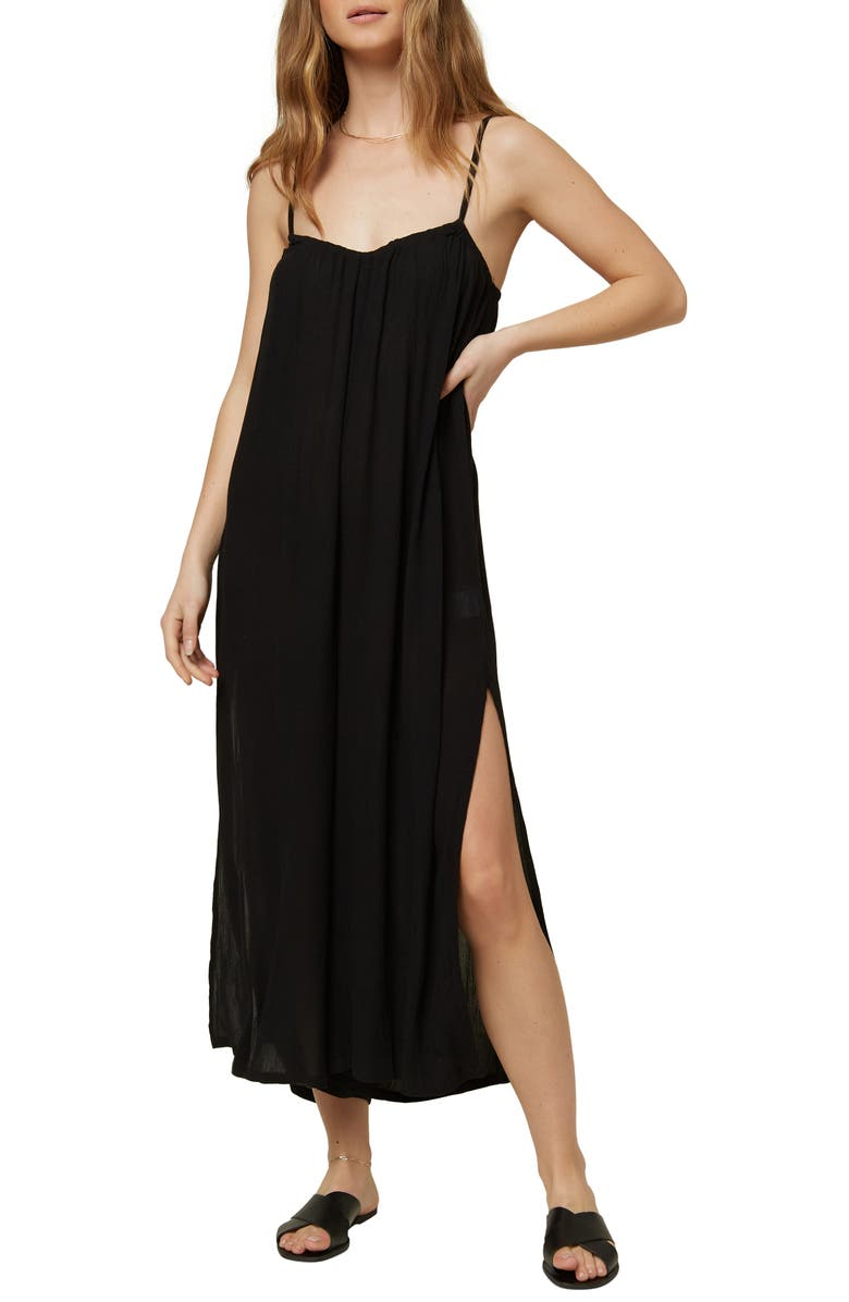 O'NEILL Pasito Cover-Up Jumpsuit, Main, color, BLACK