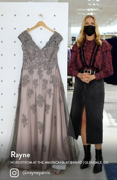 Embellished Mesh A-Line Gown, sales video thumbnail